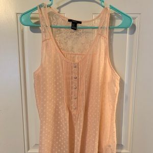 Peach Forever 21 tank with flower detail on back
